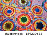a colorful mosaic wall in a... | Shutterstock . vector #154230683