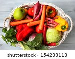 photo of white basket with... | Shutterstock . vector #154233113