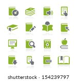 book icons    natura series | Shutterstock .eps vector #154239797