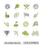 sports icons    natura series | Shutterstock .eps vector #154239803