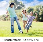 family with teenager child ... | Shutterstock . vector #154242473