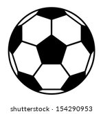 vector football ball | Shutterstock .eps vector #154290953