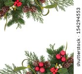 christmas floral background... | Shutterstock . vector #154294553