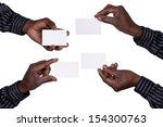 hands holding cards | Shutterstock . vector #154300763