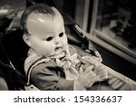 Scary Eyeless Baby Doll In An...