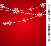christmas background with place ... | Shutterstock .eps vector #154338443