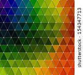 colorful triangles pattern  | Shutterstock .eps vector #154347713