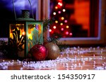 christmas warm home and family... | Shutterstock . vector #154350917