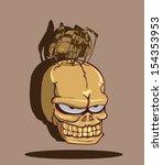skull halloween | Shutterstock .eps vector #154353953