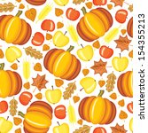 seamless pattern with red and... | Shutterstock .eps vector #154355213