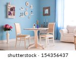 Dining Room Interior With...