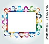 teamwork concept | Shutterstock .eps vector #154371707