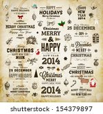 christmas decoration collection ... | Shutterstock .eps vector #154379897