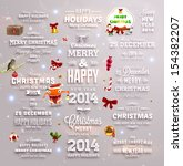 christmas decoration collection ... | Shutterstock .eps vector #154382207