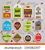 christmas labels  tags  badges... | Shutterstock .eps vector #154382357