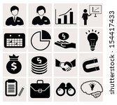 business icons on white... | Shutterstock .eps vector #154417433
