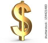 sign of dollar on white... | Shutterstock . vector #154421483