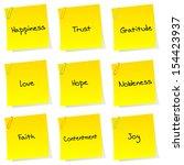 list of positive sentiments... | Shutterstock . vector #154423937