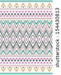 seamless  ethnic print vector... | Shutterstock .eps vector #154430813