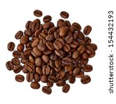 Roasted Coffee Beans Pile From...