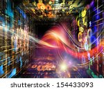 number tunnel series. interplay ... | Shutterstock . vector #154433093