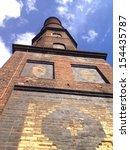 old brick industrial smoke... | Shutterstock . vector #154435787