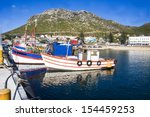 old wooden fishing boats moored ... | Shutterstock . vector #154459253