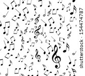 black music notes on a solid... | Shutterstock . vector #154474787