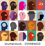 Human Heads   Abstract Vector...