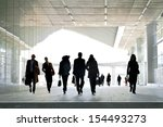 a large group of business... | Shutterstock . vector #154493273