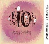 vintage happy birthday card... | Shutterstock .eps vector #154503413