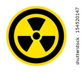 radioactivity sign  | Shutterstock . vector #154520147