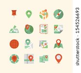 map   navigation icon set | Shutterstock .eps vector #154526693