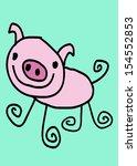 cute pig cartoon clip art  | Shutterstock . vector #154552853