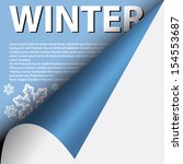 text winter under curled corner | Shutterstock .eps vector #154553687
