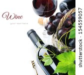 Bottle Of Red Wine With Freshl...