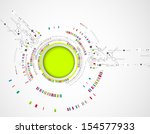 abstract technology background. | Shutterstock .eps vector #154577933