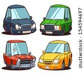 cartoon cars set | Shutterstock .eps vector #154594697