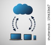 cloud computing concept | Shutterstock .eps vector #154633667