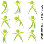 fitness icon set | Shutterstock .eps vector #154643627