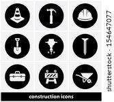 construction icons set | Shutterstock .eps vector #154647077