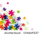 color puzzle background for...   Shutterstock .eps vector #154669337