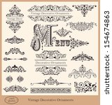 vector collection of detailed... | Shutterstock .eps vector #154674863