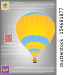 infographic diagram of hot air... | Shutterstock .eps vector #154681877