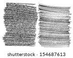 hand drawn grunge textures... | Shutterstock .eps vector #154687613