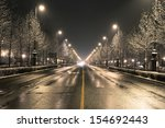 Budapest Street On A Winter...