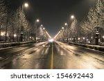 Budapest Street On A Winter...