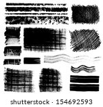 collection of grungy design... | Shutterstock .eps vector #154692593