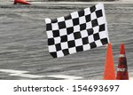 finish flag on track in racing... | Shutterstock . vector #154693697