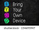 bring your own device with... | Shutterstock . vector #154695947